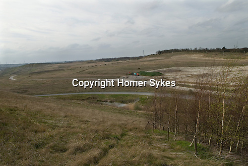 Ebbsfleet Valley Kent UK. The quarry site of the proposed new Garden City.