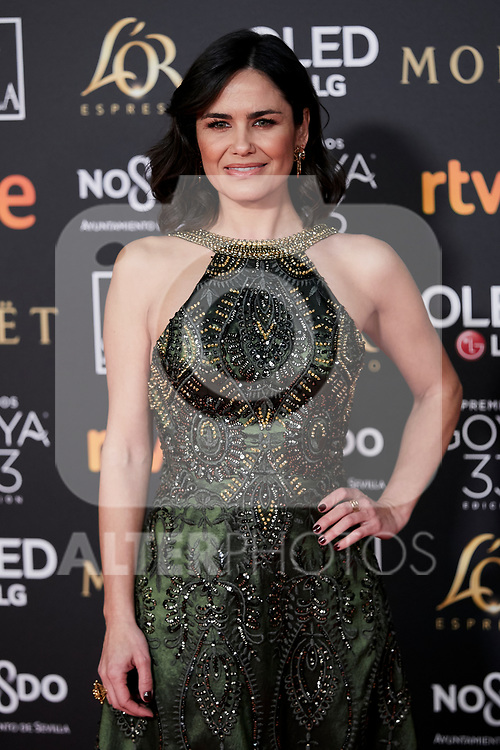 Elena Sanchez attends to 33rd Goya Awards at Fibes - Conference and Exhibition  in Seville, Spain. February 02, 2019. (ALTERPHOTOS/A. Perez Meca)
