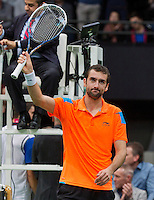 Rotterdam, The Netherlands. 15.02.2014. Marin Cilic(KRO) defeats Igor Sijsling(NED) at the ABN AMRO World tennis Tournament<br /> Photo:Tennisimages/Henk Koster