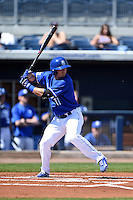 Indiana State Sycamores infielder Hunter Owen (11) at bat during a game against the Vanderbilt Commodores on February 21, 2015 at Charlotte Sports Park in Port Charlotte, Florida.  Indiana State defeated Vanderbilt 8-1.  (Mike Janes/Four Seam Images)