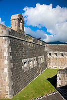 Brimstone Hill Fortress, St. Kitts, Caribbean.