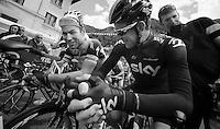 2013 Giro d'Italia.stage 11.Tarvisio - Vajont: 182km..Mark Cavendish (GBR) & Bradley Wiggins (GBR) at the start..