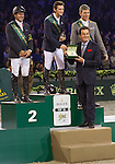 Eric Lamaze (second), Billy Twomey (first), Ludger Beerbaum (third) of the IJRC Top  10 Final