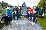 The grandchildren of John O'Connor who was killed by the Black and Tans on the 14th December 1920 at his grave in Kilsarcon on Saturday. Front l to r: Patrick O'Connor, Mary Ann Healy, John Joe O'Connor, John Michael Howard and David and Pat O'Connor.