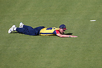 Frustration for Jamie Porter of Essex as the ball flies to the boundary during Glamorgan vs Essex Eagles, Vitality Blast T20 Cricket at the Sophia Gardens Cardiff on 13th June 2021