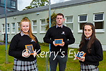 Sinead Gleeson Contribution to the Life of the School award, Ben Herlihy and Caoimhe Fleming both  Living the Ethos of the School awardsat the 2021 Killarney Community College awards on Tuesday