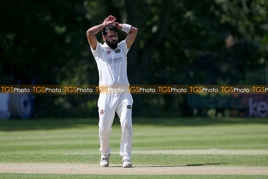 Frustration for Shahbaz Khan of Harold Wood during Wanstead and Snaresbrook CC vs Harold Wood CC, Hamro Foundation Essex League Cricket at Overton Drive on 17th July 2021
