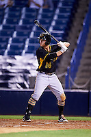 Bradenton Marauders second baseman Kevin Kramer (14) at bat during a game against the Tampa Yankees on April 11, 2016 at George M. Steinbrenner Field in Tampa, Florida.  Tampa defeated Bradenton 5-2.  (Mike Janes/Four Seam Images)