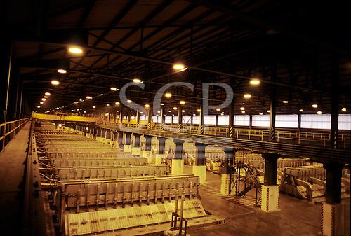 Bratislava, Slovakia. Aluminium smelting plant.