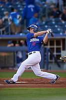 Tulsa Drillers second baseman Brandon Dixon (11) at bat during a game against the Midland RockHounds on June 2, 2015 at Oneok Field in Tulsa, Oklahoma.  Midland defeated Tulsa 6-5.  (Mike Janes/Four Seam Images)