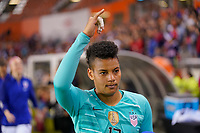 HOUSTON, TX - FEBRUARY 03: Adrianna Franch #12 of the United States during a game between Costa Rica and USWNT at BBVA Stadium on February 03, 2020 in Houston, Texas.