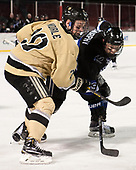 Conor Andrle (Army - 20), Ryan McMurphy (Bentley - 9) - The Bentley University Falcons defeated the Army West Point Black Knights 3-1 (EN) on Thursday, January 5, 2017, at Fenway Park in Boston, Massachusetts.The Bentley University Falcons defeated the Army West Point Black Knights 3-1 (EN) on Thursday, January 5, 2017, at Fenway Park in Boston, Massachusetts.