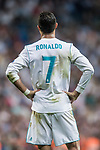 Cristiano Ronaldo of Real Madrid reacts during the UEFA Champions League 2017-18 match between Real Madrid and APOEL FC at Estadio Santiago Bernabeu on 13 September 2017 in Madrid, Spain. Photo by Diego Gonzalez / Power Sport Images