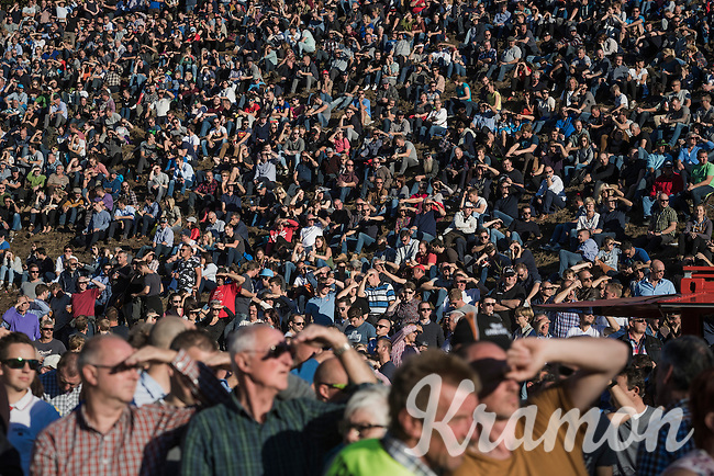 huge crowds checking the action from inside 'The Pit'<br /> <br /> CX Superprestige Zonhoven 2016