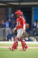 Philadelphia Phillies catcher Rodolfo Duran (10) during an Instructional League game against the Toronto Blue Jays on October 7, 2017 at the Englebert Complex in Dunedin, Florida.  (Mike Janes/Four Seam Images)