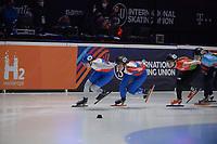 SPEEDSKATING: DORDRECHT: 06-03-2021, ISU World Short Track Speedskating Championships, RF 1500m Ladies, Michaela Hruzova (CZE), Alica Porubska (SVK), Volha Talayeva (BLR), ©photo Martin de Jong