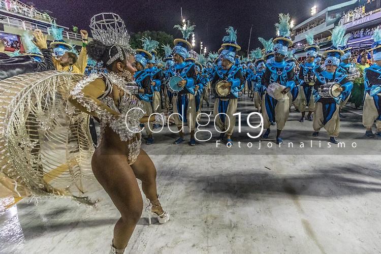 Rio de Janeiro (RJ), 21/02/2020 CARNAVAL - RJ - DESFILE - Desfile das escolas de samba  Academicos do Cubango, da Serie A, nesta sexta-feira (21), no sambodromo, no centro do Rio de Janeiro (RJ). Na foto a Rainha da bateria Maryanne Hipolito. (Foto: Ellan Lustosa/Codigo 19/Codigo 19)