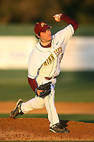 February 20, 2009:  Pitcher Phil Isaksson (10) of the University of Minnesota during the Big East-Big Ten Challenge at Jack Russell Stadium in Clearwater, FL.  Photo by:  Mike Janes/Four Seam Images