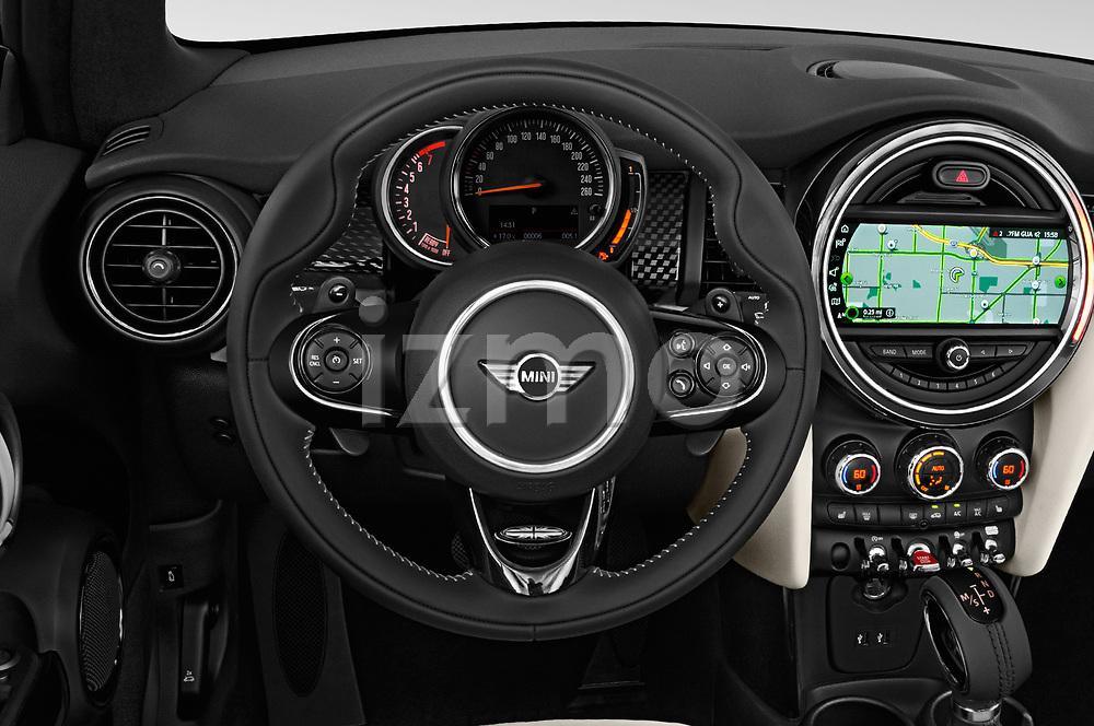Car pictures of steering wheel view of a 2019 Mini Cooper Cooper S Chili 2 Door Convertible