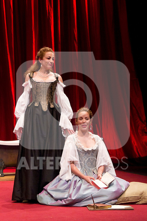 12.06.2012. Press pass of 'The School of Disobedience' at the Teatro Bellas Artes in Madrid. Directed by Luis Luque and starring by Maria Adánez and Cristina Marcos. In the image Cristina Marcos and Maria Adánez (Alterphotos/Marta Gonzalez)