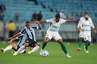 6th October 2021; Arena do Gremio, Porto Alegre, Brazil; Brazilian Serie A, Gremio versus Cuiaba; Jaminton Campaz of Gremio and Auremir of Cuiaba