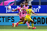 Sekou MACALOU of Stade Francais and Waisea NAYACALEVU of Stade Francais during the French Top 14 rugby match between Stade Francais and Clermont at Stade Jean Bouin on March 27, 2021 in Paris, France. (Photo by Baptiste Fernandez/Icon Sport) - Waisea NAYACALEVU - Sekou MACALOU - Stade Jean Bouin - Paris (France)