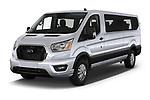 2021 Ford Transit XLT 4 Door Passenger Van Angular Front automotive stock photos of front three quarter view