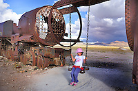 BOLIVIA - UYUNI village environment<br /> Railway cemetery and playground for children<br /> <br /> Full size: 69,2 MB