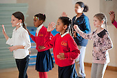 Dance class at an after-school club at the Winchester Project, Swiss Cottage, which is threatened with closure following government cuts to Camden Council's funding.