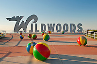 Wildwood sign and sculpture, NJ, New Jersey, USA