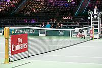Rotterdam, The Netherlands, Februari 8, 2016,  ABNAMROWTT, Centre Court, Fly Emirates<br /> Photo: Tennisimages/Henk Koster