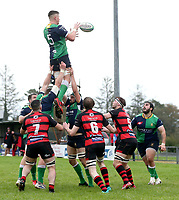 Saturday 3rd October 2020 | Hinch vs Armagh<br /> <br /> Bradley Luney secures this lineout for Ballynahinch during their Ulster Senior League clash against Armagh at Ballymacarn Park, Ballynahinch, County Down, Northern Ireland. Photo by John Dickson / Dicksondigital