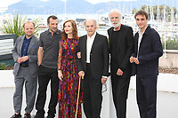 TOBY JONES, MATHIEU KASSOVITZ, ISABELLE HUPPERT, JEAN-LOUIS TRINTIGNANT, DIRECTOR MICHAEL HANEKE AND FRANZ HARDUIN - PHOTOCALL OF THE FILM 'HAPPY END' AT THE 70TH FESTIVAL OF CANNES 2017