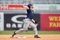 Carlos Cortes (2) of Oviedo High School in Oviedo, Florida playing for the Tampa Bay Rays scout team during the East Coast Pro Showcase on July 30, 2015 at George M. Steinbrenner Field in Tampa, Florida.  (Mike Janes/Four Seam Images)