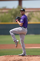 Colorado Rockies starting pitcher Ryan Castellani (14) during a Minor League Spring Training game against the Chicago Cubs at Sloan Park on March 27, 2018 in Mesa, Arizona. (Zachary Lucy/Four Seam Images)