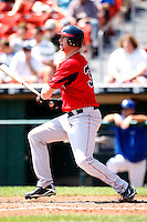 July 30, 2009:  Chris Duncan of the Pawtucket Red Sox during a game at Coca-Cola Field in Buffalo, NY.  Pawtucket is the International League Triple-A affiliate of the Boston Red Sox.  Photo By Mike Janes/Four Seam Images