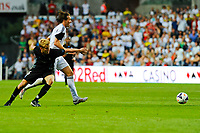 Thursday  01  August  2013<br /> <br /> Pictured:Michu runs forward with the ball <br /> Re:UEFA Europa League Third Qualifying Round -1st Leg Swansea City vs Malmo FF