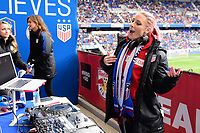 Harrison, NJ - Sunday March 04, 2018: DJ Amy Robbins during a 2018 SheBelieves Cup match match between the women's national teams of the United States (USA) and France (FRA) at Red Bull Arena.