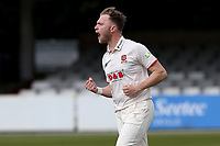 Sam Cook of Essex claims the wicket of Alex Lees during Essex CCC vs Durham CCC, LV Insurance County Championship Group 1 Cricket at The Cloudfm County Ground on 15th April 2021