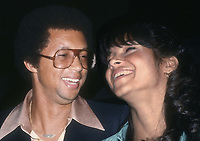 Arthur Ashe and wife Jeanne Moutoussamy-Ashe 1977<br /> Photo By Adam Scull/PHOTOlink.net