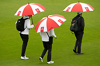 The officials cross the pitch early morning during India vs New Zealand, ICC World Test Championship Final Cricket at The Hampshire Bowl on 21st June 2021