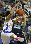 Foothill's Julie Harless and Reed's Gabby Williams fight for the ball during a semi-final game in the NIAA 4A State Basketball Championships between Reed and Foothill high schools at Lawlor Events Center in Reno, Nev, on Thursday, Feb. 23, 2012. .Photo by Cathleen Allison