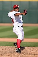 June 15th 2008:  Pitcher Wilfredo Diaz of the Great Lakes Loons, Class-affiliate of the Los Angeles Dodgers, during a game at Dow Diamond in Midland, MI.  Photo by:  Mike Janes/Four Seam Images