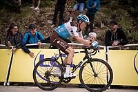 Romain Bardet (FRA/AG2R-LaMondiale) up the gravel section in the final stretch to the finish line up La Planche des Belles Filles<br /> <br /> Stage 6: Mulhouse to La Planche des Belles Filles (157km)<br /> 106th Tour de France 2019 (2.UWT)<br /> <br /> ©kramon