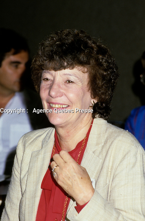 Montreal Qc) CANADA March 1987 - National Democratic Party (NDP) Concention - Marion Dewar, Ottawa Mayor
