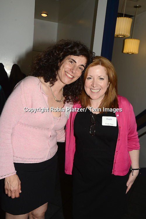 Maria and Cynthia  at the  People Magazine Employees Reunion on April 26, 2013 at Burger Heaven at 804  Lexington Avenue in New York City.