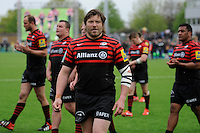 20130512 Copyright onEdition 2013©.Free for editorial use image, please credit: onEdition..Carlos Nieto of Saracens won his 100th cap during the Premiership Rugby semi final match between Saracens and Northampton Saints at Allianz Park on Sunday 12th May 2013 (Photo by Rob Munro)..For press contacts contact: Sam Feasey at brandRapport on M: +44 (0)7717 757114 E: SFeasey@brand-rapport.com..If you require a higher resolution image or you have any other onEdition photographic enquiries, please contact onEdition on 0845 900 2 900 or email info@onEdition.com.This image is copyright onEdition 2013©..This image has been supplied by onEdition and must be credited onEdition. The author is asserting his full Moral rights in relation to the publication of this image. Rights for onward transmission of any image or file is not granted or implied. Changing or deleting Copyright information is illegal as specified in the Copyright, Design and Patents Act 1988. If you are in any way unsure of your right to publish this image please contact onEdition on 0845 900 2 900 or email info@onEdition.com