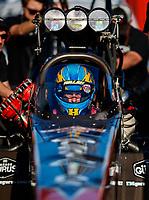 Jan 31, 2018; Chandler, AZ, USA; NHRA top fuel driver Clay Millican during Nitro Spring Training Testing at Wild Horse Pass Motorsports Park. Mandatory Credit: Mark J. Rebilas-USA TODAY Sports