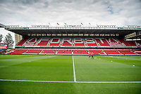 NOTTINGHAM, ENGLAND - JULY 25:  Views of the City Ground prior to the pre season friendly match between Nottingham Forest and Swansea City at The City Ground on July 25, 2015 in Nottingham, England.  (Photo by Aled Llywelyn / Athena Pictures )