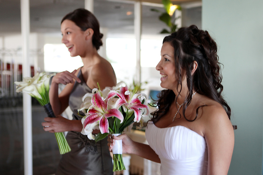 The bride and best lady.